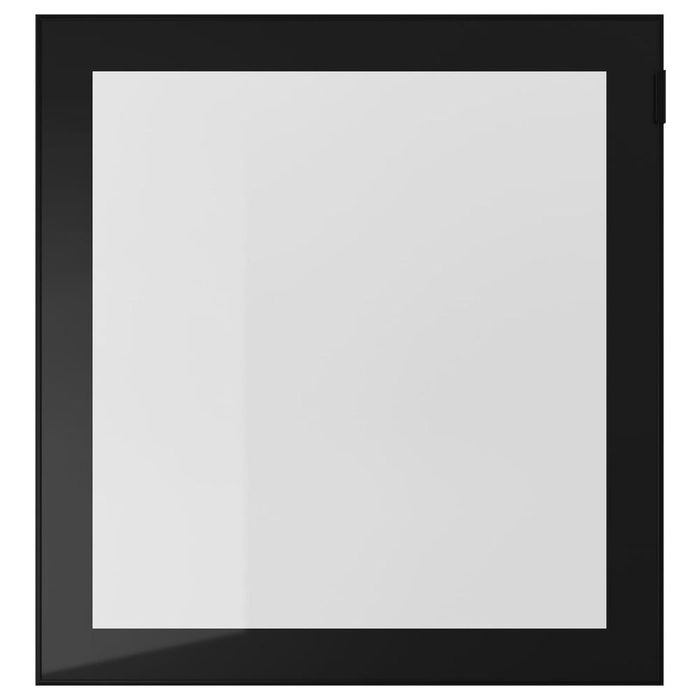 ГЛАССВИК Стеклянная дверь, черный, прозрачное стекло