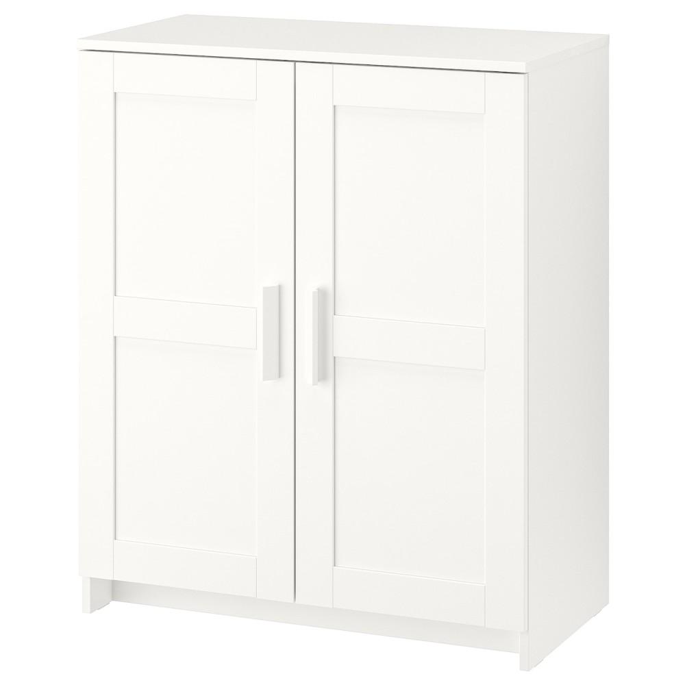 БРИМНЭС Шкаф с дверями, белый