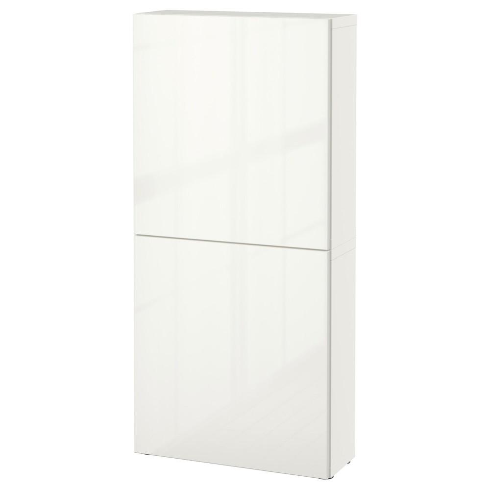 БЕСТО Навесной шкаф с 2 дверями, белый, Сельсвикен глянцевый/белый