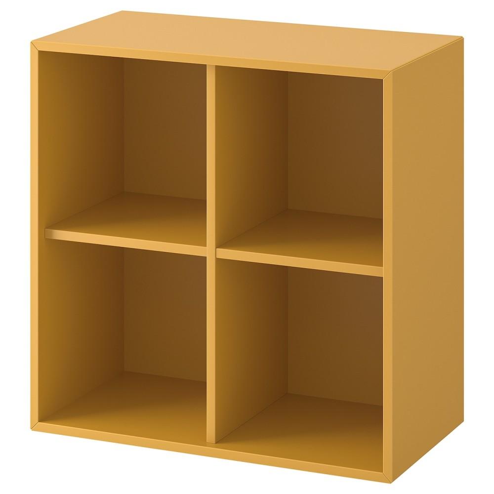 ЭКЕТ Шкаф с 4 отделениями, золотисто-коричневый