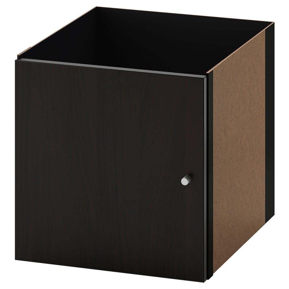 КАЛЛАКС Вставка с дверцей, черно-коричневый