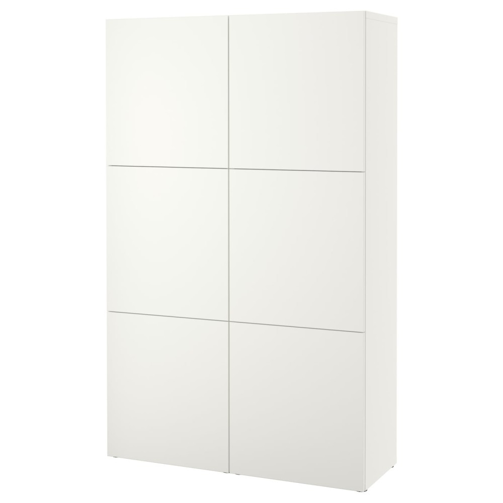 БЕСТО Комбинация для хранения с дверцами, белый Лаппвикен, Лаппвикен белый