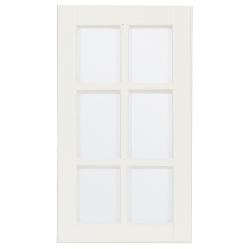 ЛИЛЛЬБИН Стеклянная дверь, белый с оттенком