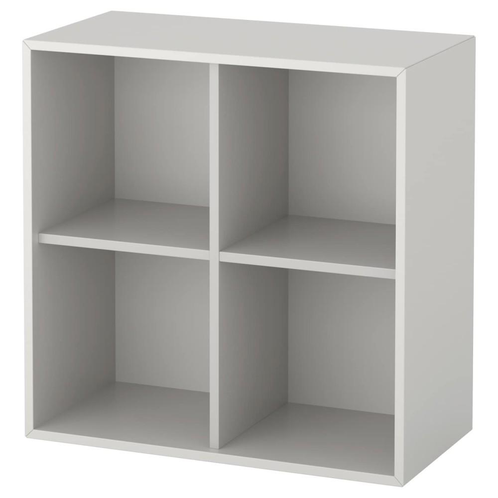 ЭКЕТ Шкаф с 4 отделениями, светло-серый