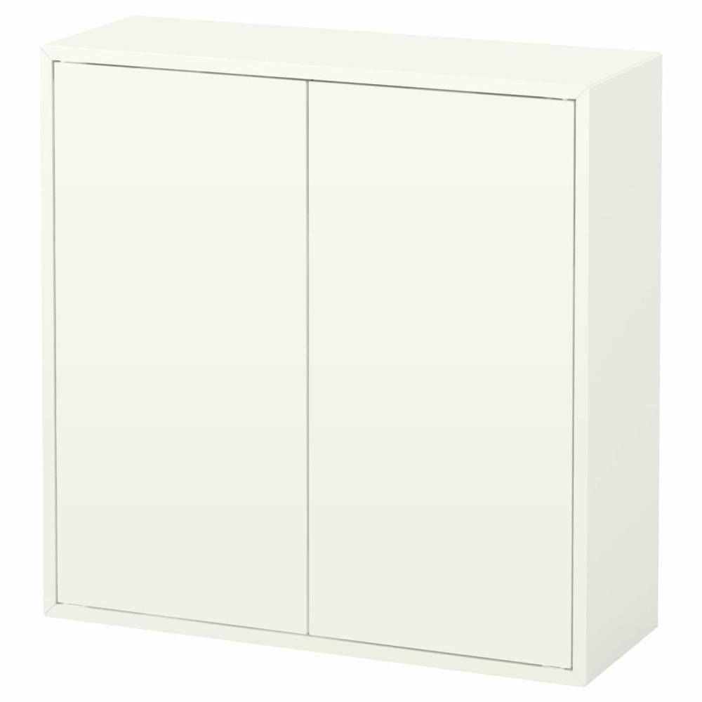 ЭКЕТ Шкаф с 2 дверцами и 2 полками, белый