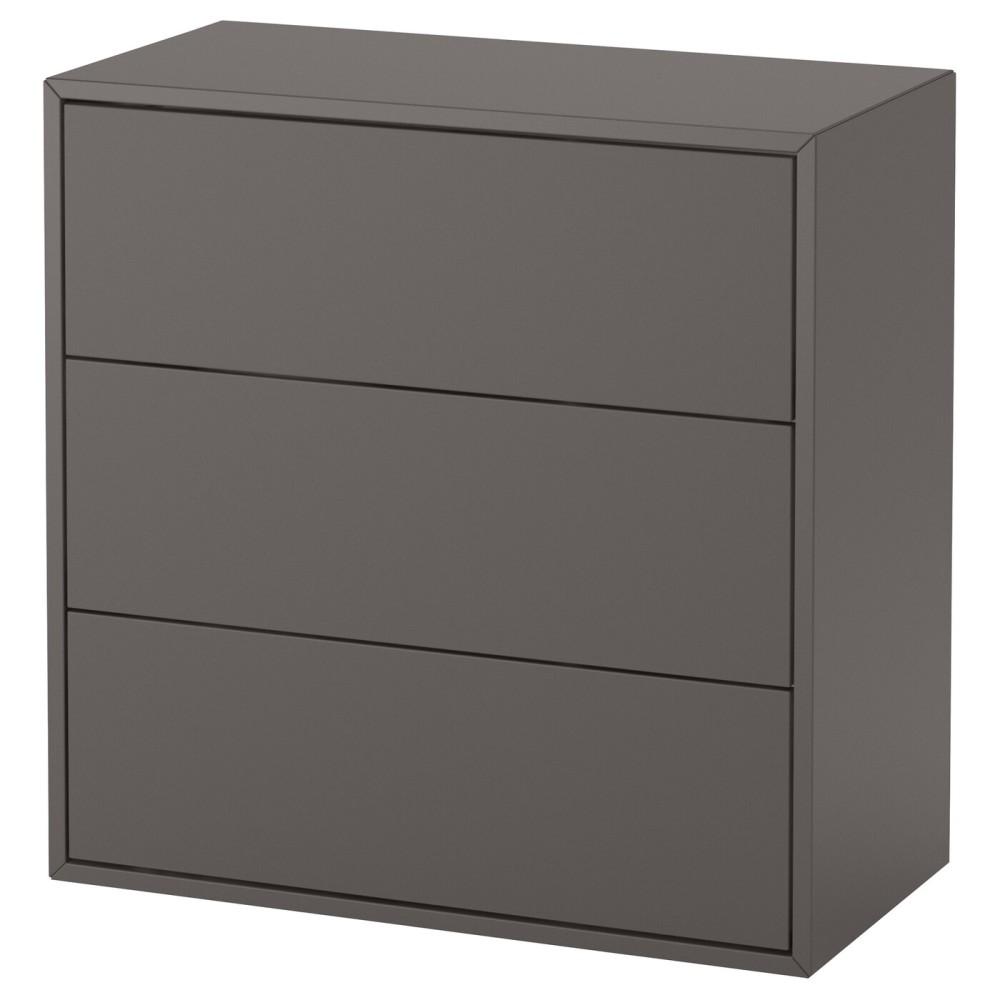 ЭКЕТ Шкаф с 3 ящиками, темно-серый