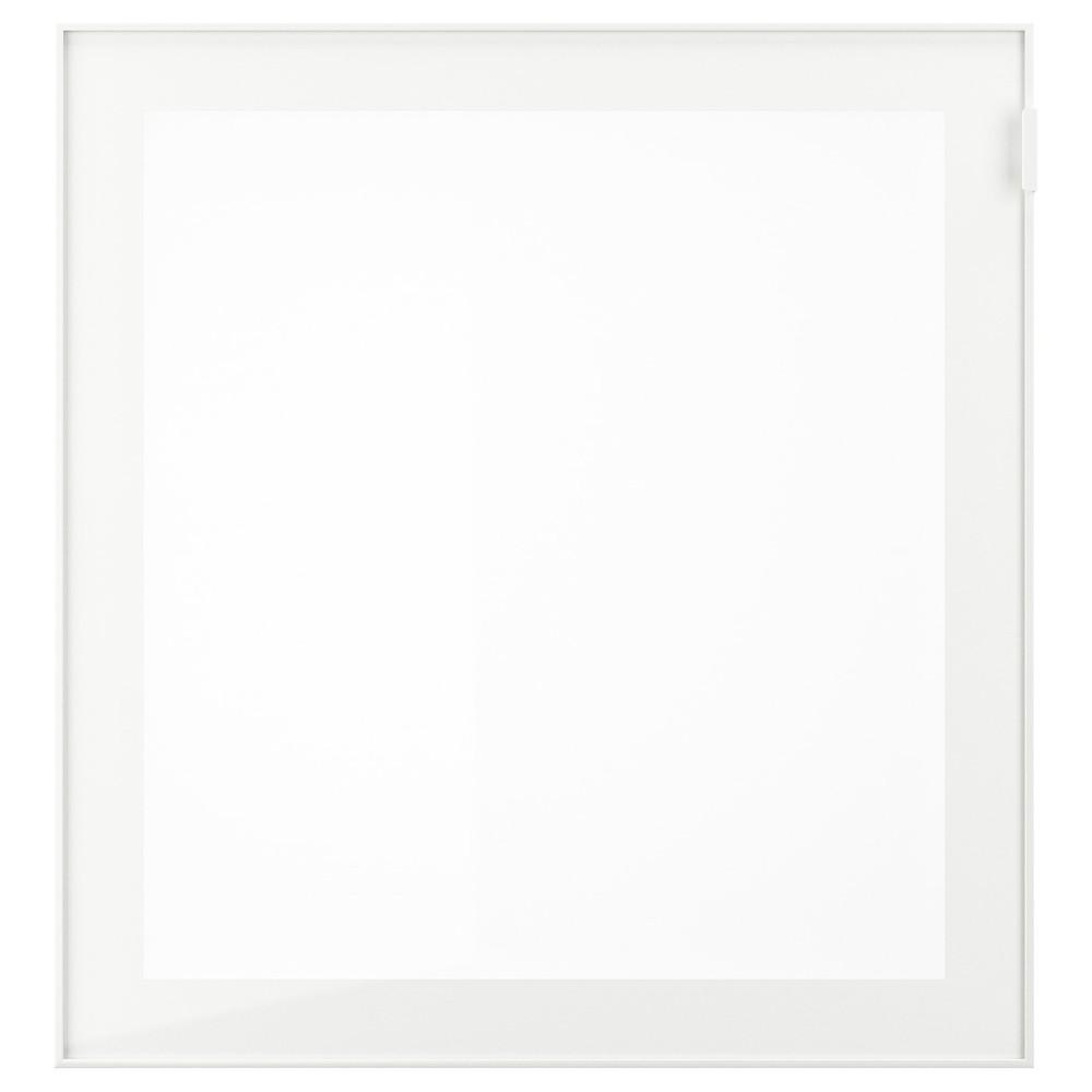 ГЛАССВИК Стеклянная дверь, белый, матовое стекло