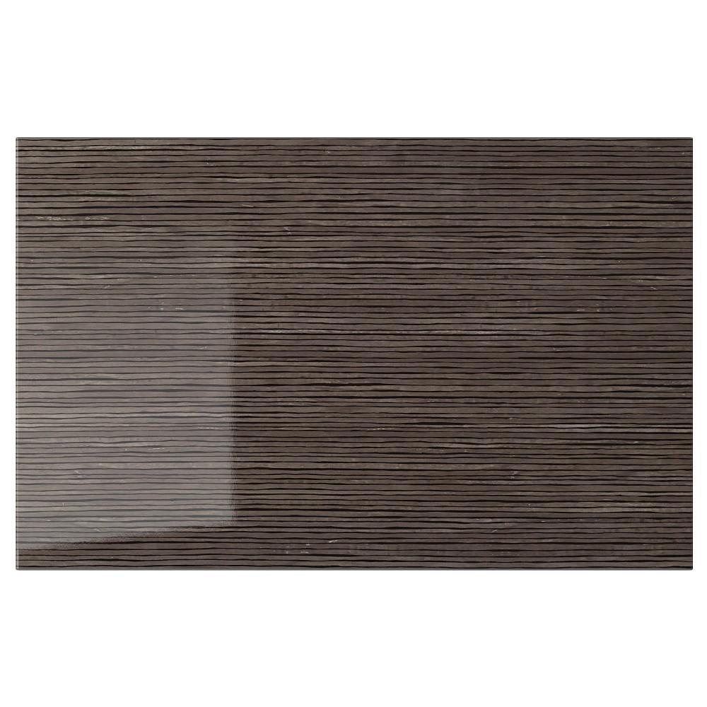 СЕЛЬСВИКЕН Дверь/фронтальная панель ящика, глянцевый с рисунком коричневый