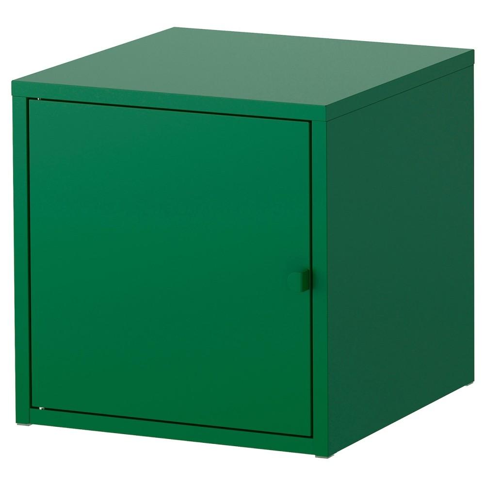 ЛИКСГУЛЬТ Шкаф, металлический, темно-зеленый