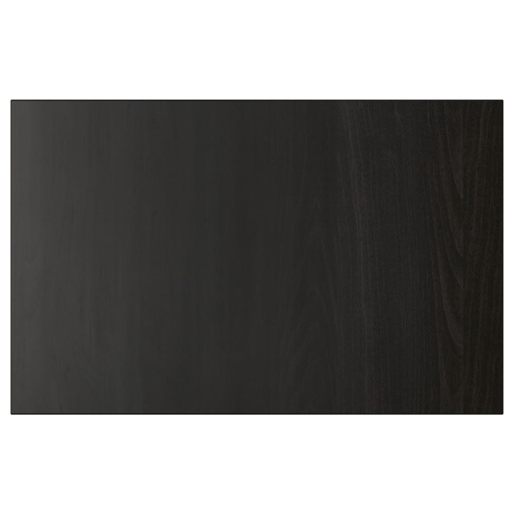ЛАППВИКЕН Дверь/фронтальная панель ящика, черно-коричневый