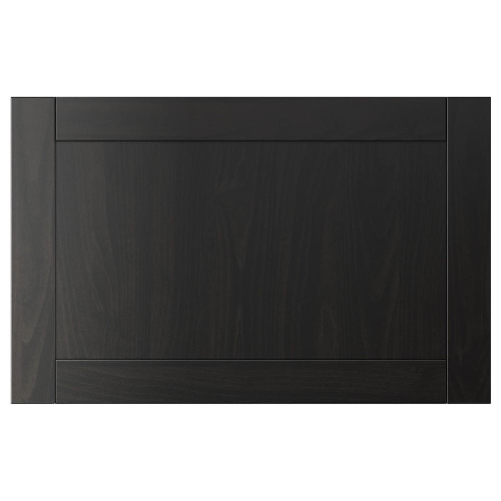 ХАНВИКЕН Дверь/фронтальная панель ящика, черно-коричневый