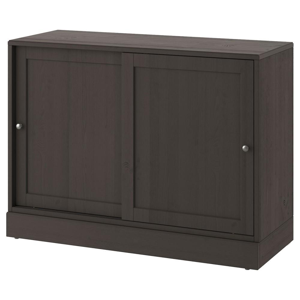 ХАВСТА Шкаф с цоколем, темно-коричневый