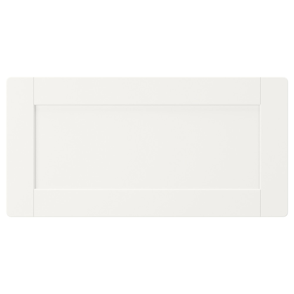 СМОСТАД Фронтальная панель ящика, белый, с рамой