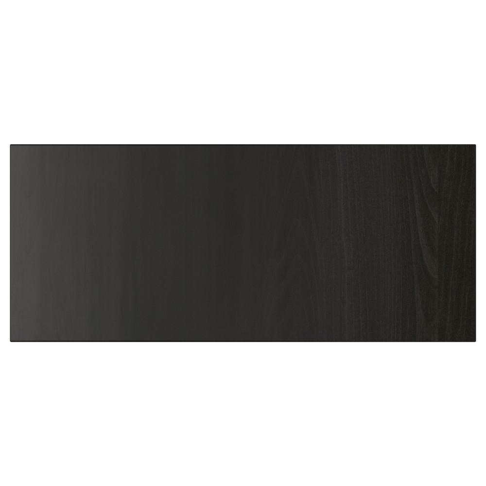 ЛАППВИКЕН Фронтальная панель ящика, черно-коричневый