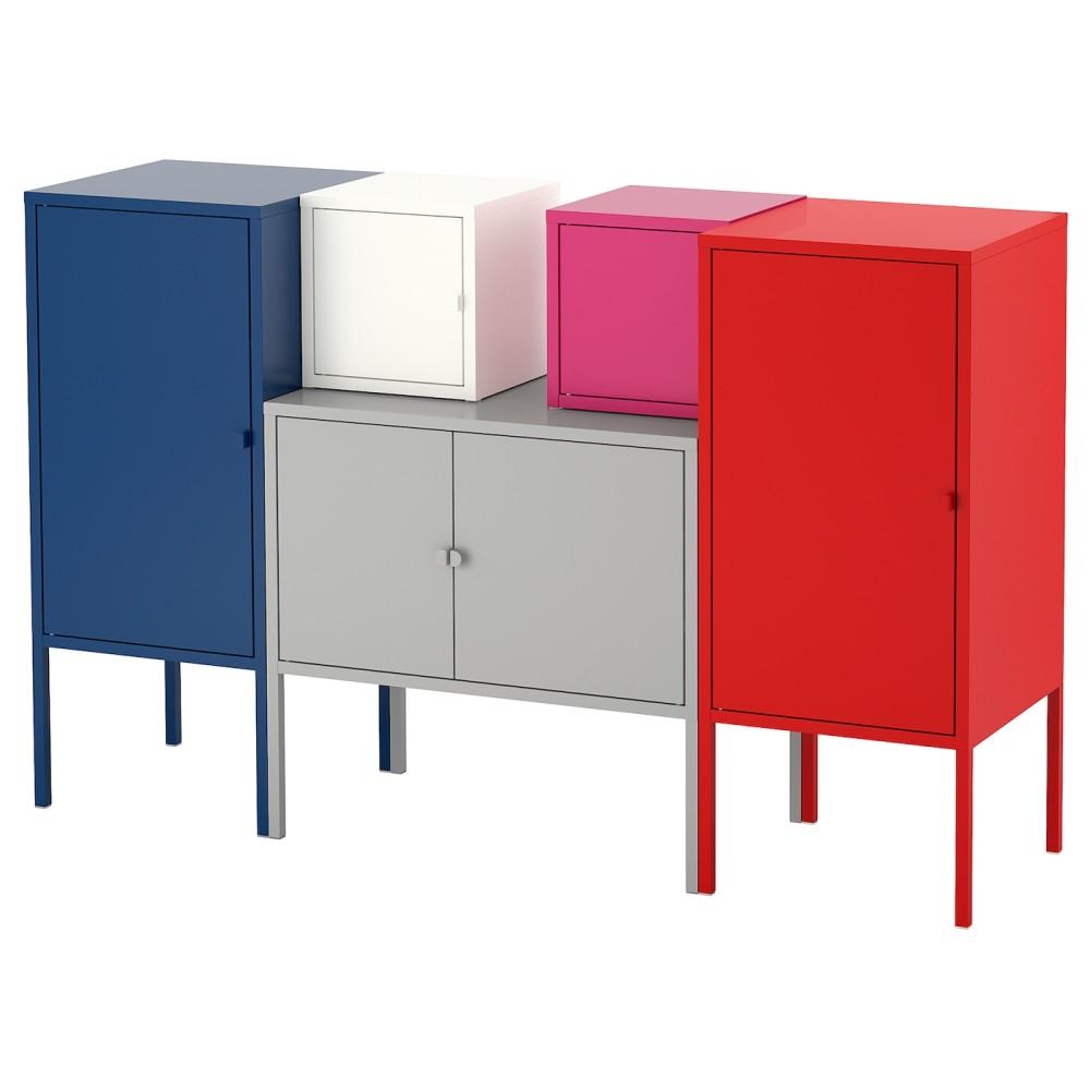 ЛИКСГУЛЬТ Комбинация д/хранения, темно-синий серый/белый, розовый/красный