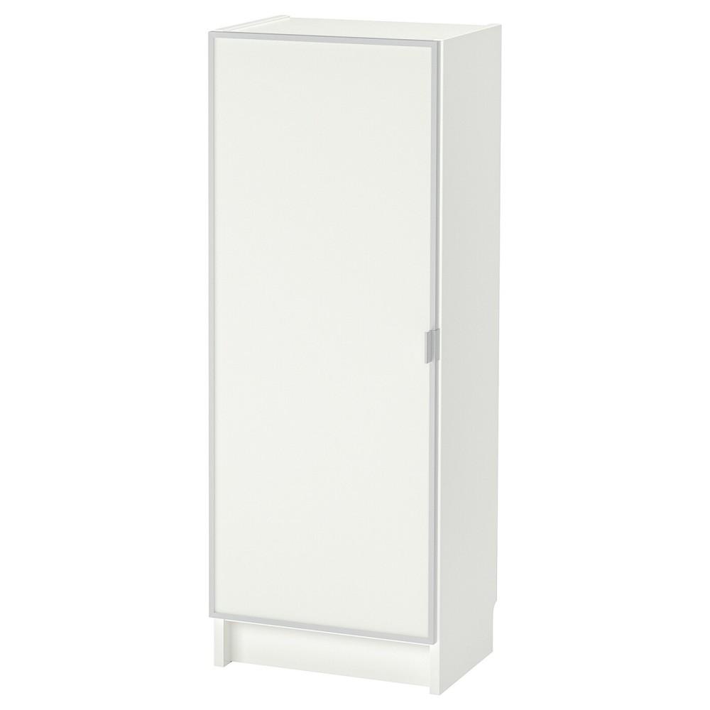 БИЛЛИ / МОРЛИДЕН Шкаф книжный со стеклянной дверью, белый, стекло