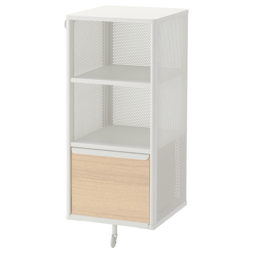 БЕКАНТ Модуль для хранения, сетка, белый