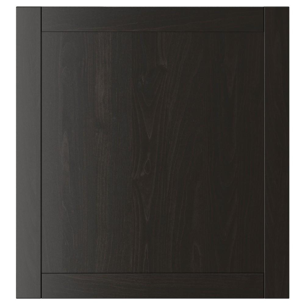 ХАНВИКЕН Дверь, черно-коричневый