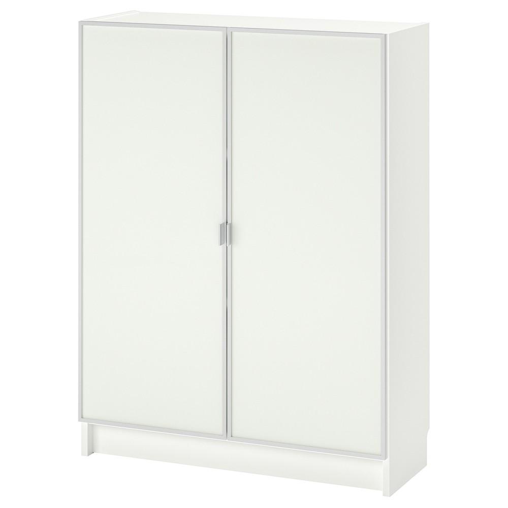БИЛЛИ / МОРЛИДЕН Шкаф книжный со стеклянными дверьми, белый, стекло
