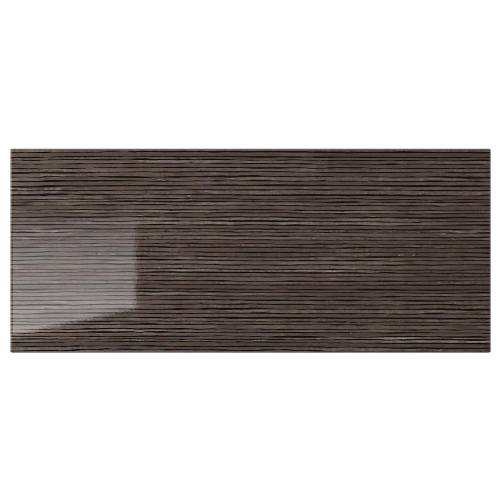СЕЛЬСВИКЕН Фронтальная панель ящика, глянцевый с рисунком коричневый