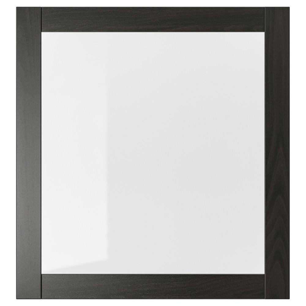 СИНДВИК Стеклянная дверь, черно-коричневый, прозрачное стекло