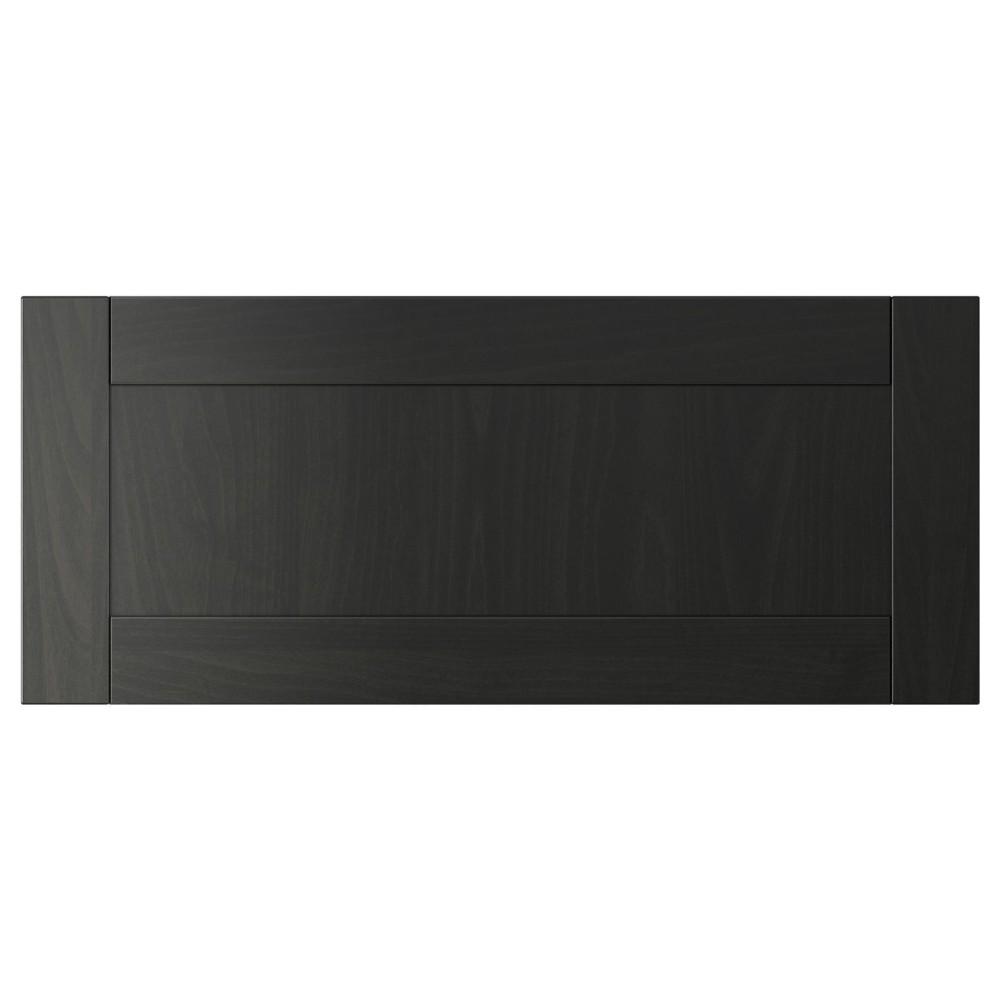 ХАНВИКЕН Фронтальная панель ящика, черно-коричневый