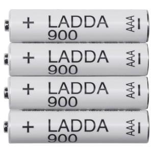 ЛАДДА Аккумуляторная батарейка, 4шт