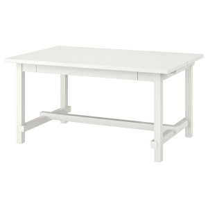 НОРДВИКЕН Раздвижной стол, белый