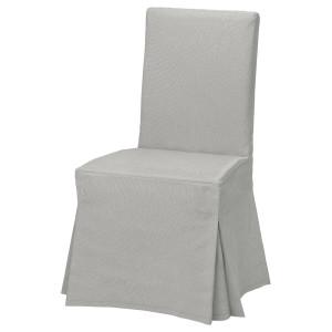 ХЕНРИКСДАЛЬ Чехол для стула, длинный, Оррста Рамна светло-серый