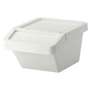 СОРТЕРА Бак мусорный, белый