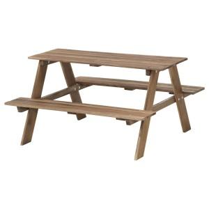 РЕСО Детский стол д/пикника, светло-коричневая морилка серо-коричневая морилка