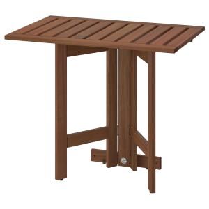 ЭПЛАРО Складной стол/стенной крепеж,д/сада, коричневая морилка