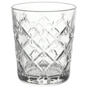 ФЛИМРА Стакан, прозрачное стекло, с рисунком