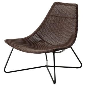 РОДВИКЕН Кресло, темно-коричневый, черный