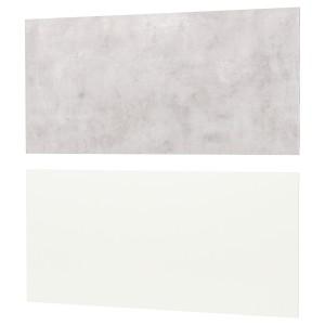 ЛИЗЕКИЛЬ Настенная панель, двусторонний белый белый, светло-серый под бетон