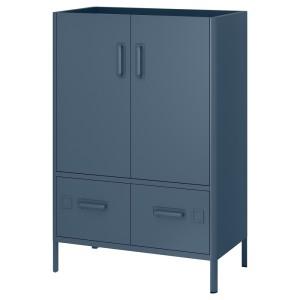 ИДОСЕН Шкаф с дверцами и ящиками, синий