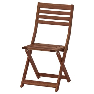 ЭПЛАРО Садовый стул, складной коричневая морилка