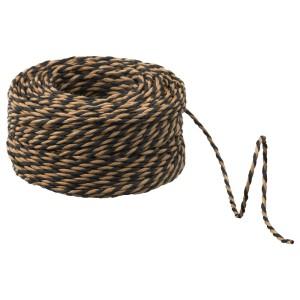 ГИВАНДЕ Веревка, черный, бежевый, 40м
