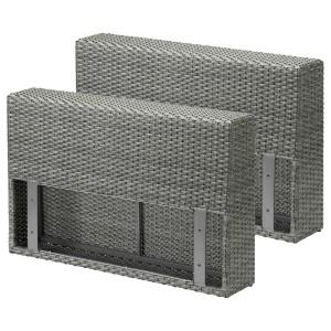 СОЛЛЕРОН Подлокотник для садовой мебели, темно-серый, 2шт