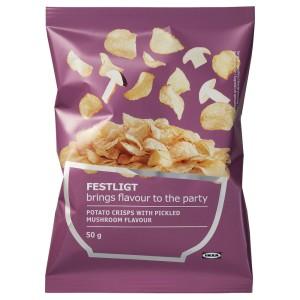 FESTLIGT Картофельные чипсы, соленые грибы, 0.05кг