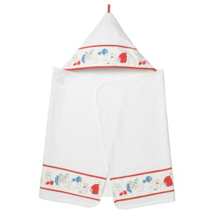 РЁДХАКЕ Полотенце с капюшоном, орнамент «кролики/черника»