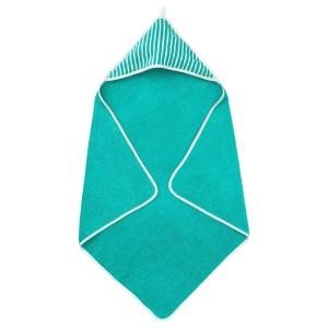 РЁРАНДЕ Полотенце с капюшоном, в полоску, зеленый
