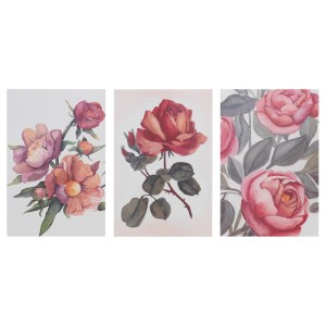 БОККАРА Открытка, Цветы розовый, 3шт