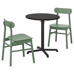 СТЕНСЕЛЕ / РЁННИНГЕ Стол и 2 стула, антрацит, антрацит зеленый