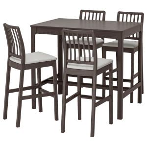 ЭКЕДАЛЕН / ЭКЕДАЛЕН Барн стол+4 барн стула, темно-коричневый, Рамна Оррста светло-серый