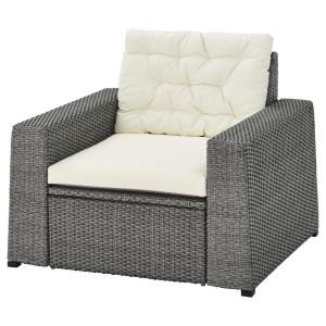 СОЛЛЕРОН Садовое кресло, темно-серый, Куддарна бежевый