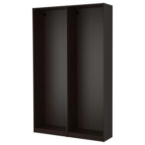 ПАКС 2 каркаса гардеробов, черно-коричневый черно-коричневый