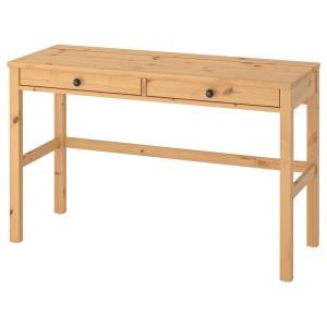 ХЕМНЭС Стол с 2 ящиками, светло-коричневый