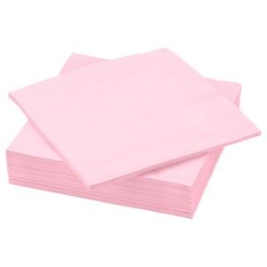 ФАНТАСТИСК Салфетка бумажная, светло-розовый, 50шт
