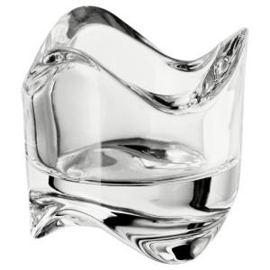 ВЭСНАС Подсвечник для греющей свечи, прозрачное стекло